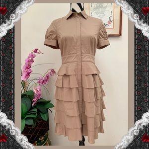 The Limited Layer Ruffle Shirt Dress